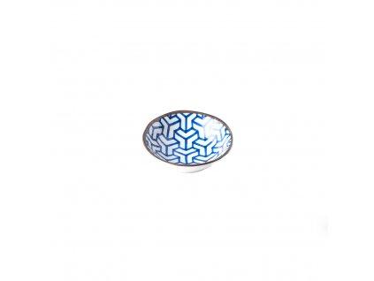 Malá miska Herringbone INDIGO IKAT 11 x 4 cm